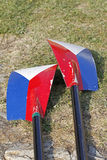 Rowing Oars. On the grass Royalty Free Stock Photography