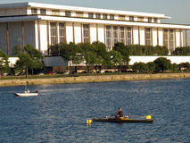 Rowing on the Potomac Stock Photo