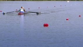A rowing race stock footage