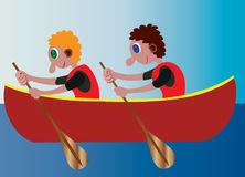 Rowing in the rivers stock illustration