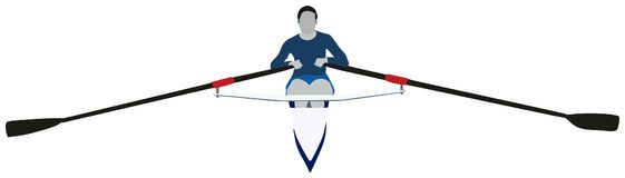Rowing Sport. Conceptual image showing sportsman practicing Royalty Free Stock Photo