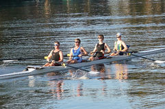 Rowing team royalty free stock photos
