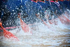 Rowing team race. Action sports of rowing race team Royalty Free Stock Photos