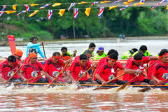 Rowing team race Royalty Free Stock Images