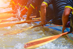 Rowing team race. And color tone effect royalty free stock image
