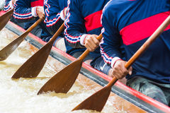 Rowing team Stock Image