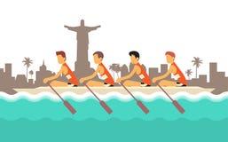 Rowing Team Sport Competition Imagen de archivo
