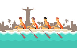 Rowing Team Sport Competition Stock Image
