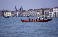 Rowing team,Venice. Stock Photo