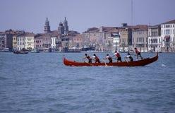 Rowing team,Venice. Stock Photo