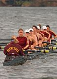 Rowing Team in the water Stock Images