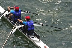 Rowing Teamwork Royalty Free Stock Photo