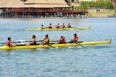Rowing Teamwork Royalty Free Stock Image