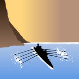 Rowing vector Stock Images