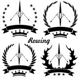 Rowing. Vector illustration (EPS 10 Stock Photography