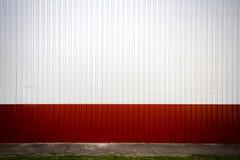 Rowkowata metal ściana Zdjęcia Royalty Free