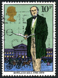 Rowland Hill UK Postage Stamp Stock Images