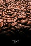 Rown coffee beans texture background Stock Photo