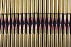 Rows of ammo together Stock Photography