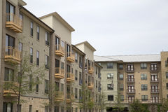 Rows of apartment buildings with balcony royalty free stock photo