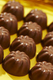 Rows appetizing chocolate bonbon Stock Photography