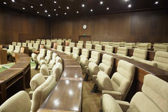 Rows of armchairs in the meeting room. Stock Images