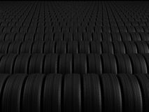 Rows of automobile tire Royalty Free Stock Photography