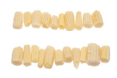 Rows of Baby Corn Royalty Free Stock Photos