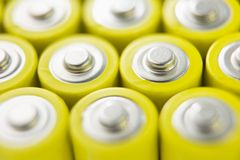 Rows Of Batteries Stock Images