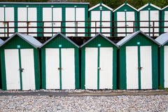 Rows Of Beach Huts Royalty Free Stock Images