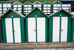 Rows Of Beach Huts Stock Images