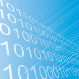 Rows of binary figures abstract background. Stock Photo