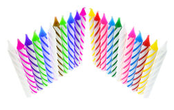 Rows of Birthday Candles Royalty Free Stock Images