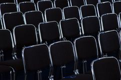 Rows black business chairs. Rows of black business chairs Stock Photo