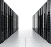 Rows of blade server system on white background Stock Photography