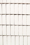 Rows of blank white boxes. Stock Images