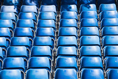 Rows of blue seats Royalty Free Stock Image