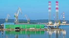 Rows of boats in marina in adriatic sea bay harbor in Pula, Croatia in summer stock footage