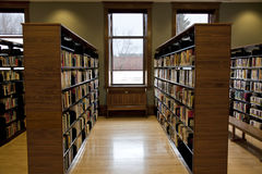 Rows of book shelves Stock Photography