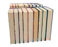 Rows of books Stock Image