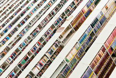 Rows of books in a public library Stock Photography