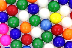 Rows Bubble Gum Balls Angle Royalty Free Stock Images