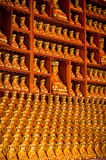 Rows of Buddhas Stock Images