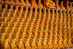 Rows of Buddhas Stock Photography