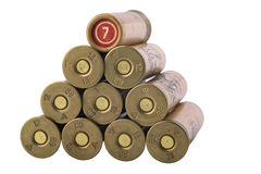 Rows of bullets, 12-th caliber Stock Image