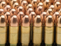 Rows of bullets. Useful for backgrounds and themes involving crime,war,military,terrorism Stock Photo