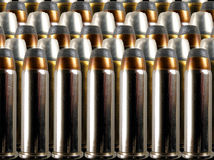 Rows of bullets. Rows of .38 special bullets stock photos