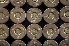 Rows of bullets, Royalty Free Stock Images