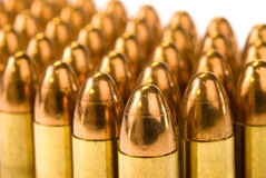 Rows of bullets Stock Photo