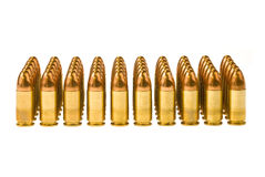 Rows of bullets Royalty Free Stock Photos